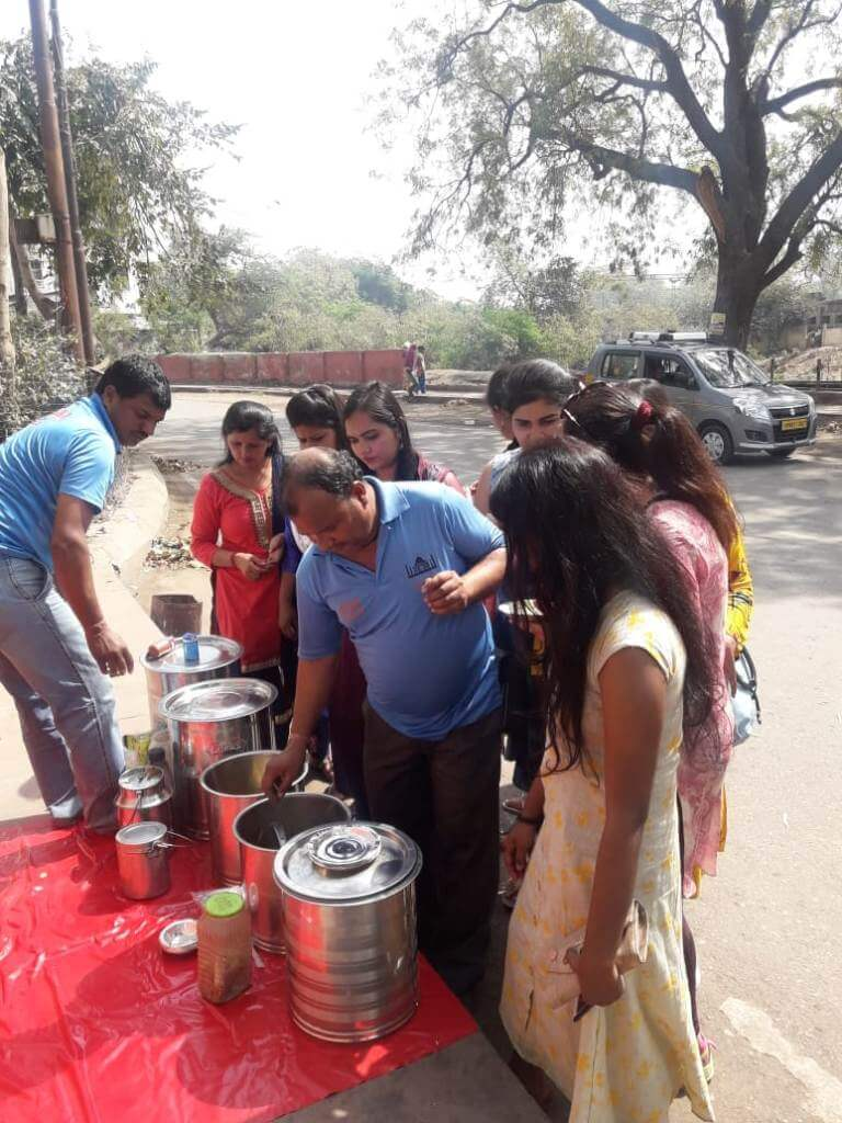 Students of Women's University, Sonipat visit to SOS Bhojnalaya